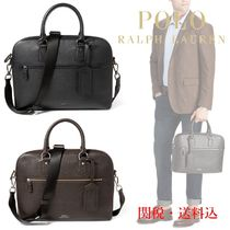 POLO RALPH LAUREN ラルフローレン Pebbled Leather Briefcase