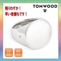 残りわずか!TOM WOOD Flush White Mother of Pearl Signet Ring