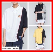2018SS★人気【ROMANTIC CROWN 】★Piping Polo Shirts★3色★