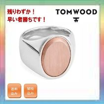 大人気!残りわずか!TOM WOOD Oval Rose Gold Top Signet Ring