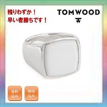 大人気!残りわずか!TOM WOOD White Agate Cushion Signet Ring