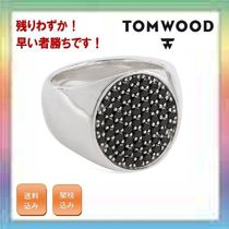 大人気!残りわずか!TOM WOOD Black Spinel Oval Pinkie Ring