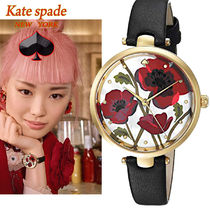 特別価格!kate spade  Bold red poppies holland poppy 腕時計