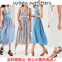 【送料関税込!!】☆Urban Outfitters☆Linen Halter Midi Dress