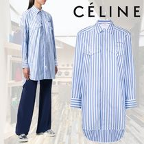 【18AW】★CELINE★パッチポケットストライプシャツ