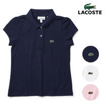 LACOSTE ラコステ ポロシャツ キッズ ガールズ 半袖 鹿の子 POLO
