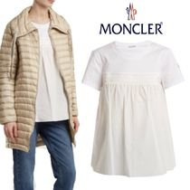 【18AW】★MONCLER★Round-neck gathered-panel cotton T-shirt