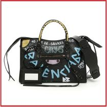 BALENCIAGA 2018/19 AW Small Classic City Bag Graffiti All