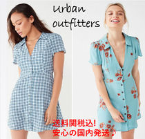 【送料関税込!!】☆UO☆Mallory Button-Down Mini Dress