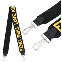 【FENDI 】Strap You Fendi Think Love ストラップ 黒×イエロー