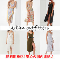 ☆UO☆Amber Button-Down Linen Midi Dress リネンミディドレス