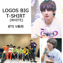 BTS-V(ブイ)着用Tシャツ★LOGOS BIG T-SHIRT (WHITE)