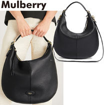 【Mulberry】Selbyスモールグラインドレザーホーボーバッグ