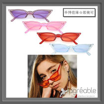 手持在庫★zeroUV★Retro Translucent Thin Cat Eye PantoneC663