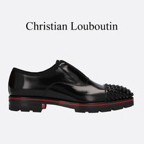 Christian Louboutin Alpha-Pointe Leather Slippers