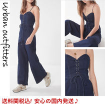 【送料関税込!】☆UO☆Lace-Up Denim Jumpsuit