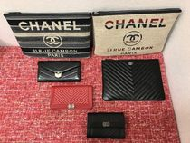 収納力抜群★2018CHANEL定番★DEAUVILLE ZIP POUCH IN FABRIC