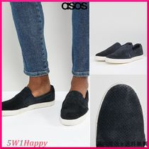 ★Base London Clipper Suede Espadrille Slip Ons In Navy