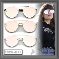 手持在庫★zeroUV★Modern Mirrored Flat Rimless Aviator A825