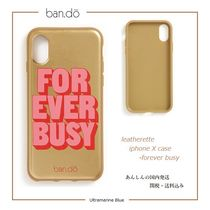 ban.do【国内発送】leatherette iphone X case - FOREVER BUSY