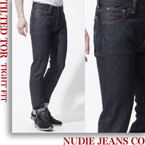 nudie jeans co ボタンフライ ジーンズ tilted-tor-112444