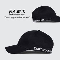 F.A.M.T.(ファックアートメイク ティーズ) キャップ 【Fuck Art, Make Tees】Don't Say Motherfucker Cap