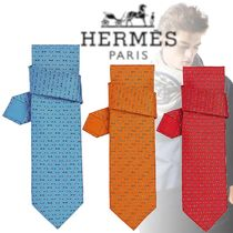 HERMES 2018-19AW Mood Tie ネクタイ シルク
