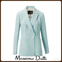 MassimoDutti♪SLIM FIT DOUBLE-BREASTED LINEN SUIT BLAZER