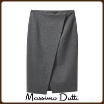 MassimoDutti♪WRAP SKIRT WITH SLIT DETAIL