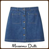 MassimoDutti♪DENIM SKIRT WITH BUTTON DETAILS