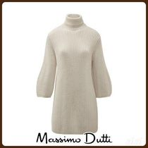 MassimoDutti♪MAXI PURL KNIT SWEATER WITH PUFF SLEEVE DETAIL
