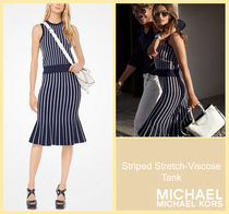 [セール]マイケルコース☆Striped Stretch-Viscose Tank