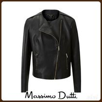 MassimoDutti♪NAPPA BIKER JACKET WITH EMBOSSED DETAILS