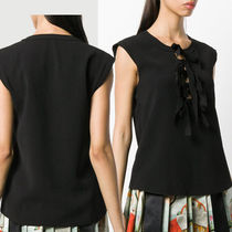 BOTTEGA VENETA tie front sleeveless blouse