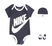 Nike 3pc Bodysuit Hat Bootie Set- Baby ロンパース3点セット