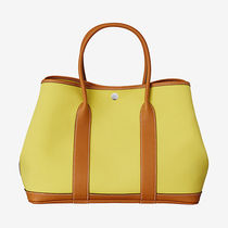 HERMES 楽しめるカラ- !! Garden Party 36 tote bag,Lime/Toffee