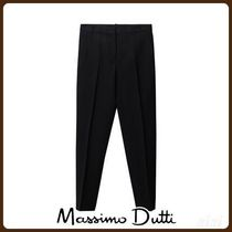 MassimoDutti♪SLIM FIT TEXTURED WEAVE WOOL SUIT TROUSERS