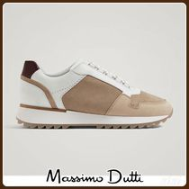 MassimoDutti♪CONTRASTING LEATHER SNEAKERS