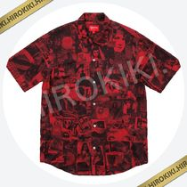 【18SS】Supreme Vibrations Rayon Shirt 総柄 レーヨン Red 赤