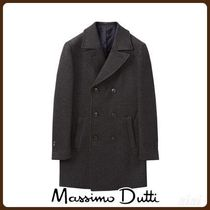 MassimoDutti♪SLIM FIT DOUBLE-BREASTED WOOL COAT