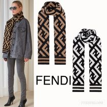【FENDI】Multicolour wool and viscose  FFロゴ ショール