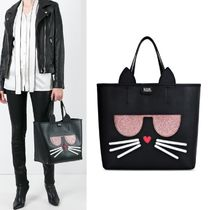 【Karl Lagerfeld】K/KOCKTAIL CHOUPETTE 猫モチーフ トート 黒