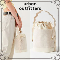 ☆Urban Outfitters リネン*巾着バケットバッグ☆送関込