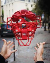 国内発送 18SS Supreme Rawlings Catcher's Mask 赤 red マスク