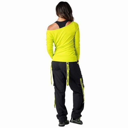 ZUMBA フィットネストップス ☆ZUMBA・ズンバ☆Throwback Retro Headliner Top LG(2)