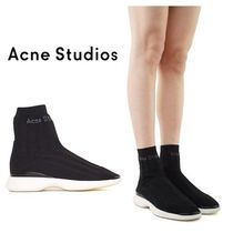 Acne 大特価!Batilda black as sock high-top sneakers★