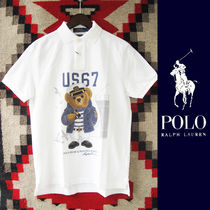 Polo Ralph Lauren:ポロベアーポロシャツ/CAPTAIN/WHITE