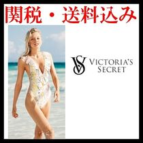 Victoria's Secret SHINE RUFFLE DEEP-V ONE-PIECE