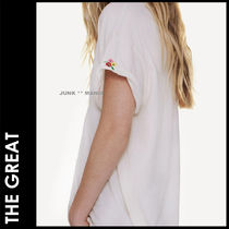 ★追跡&関税込【THE GREAT】袖口刺繍♪The Roll Sleeve Crew