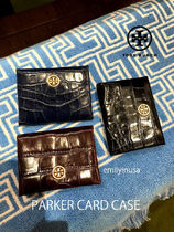 新作 TORY BURCH★PARKER CARD CASE 50704*クロコ調